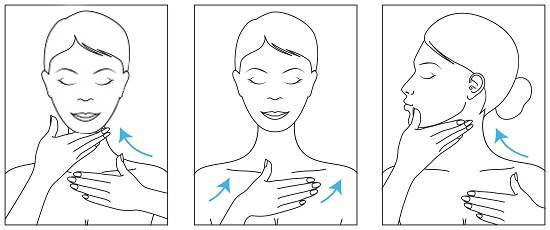 Pro Collagen Neck Decollete how to apply All poses